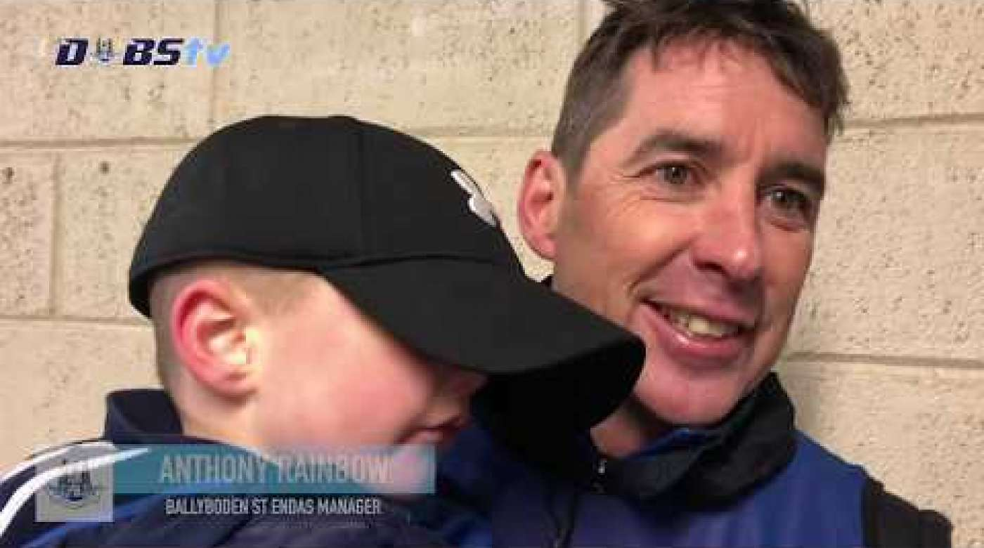 Ballyboden St Endas manager Anthony Rainbow reacts to Leinster Final win