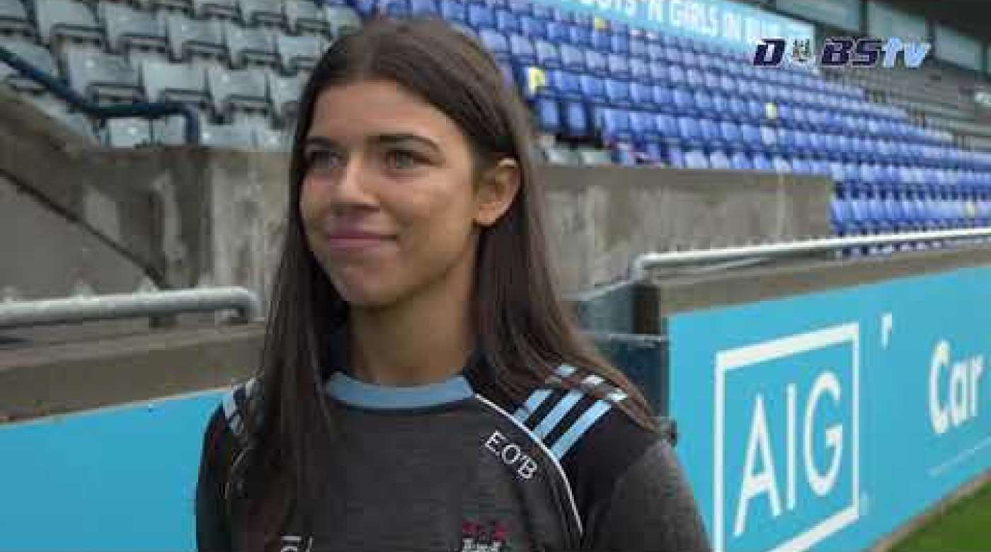 Dublin Camogie's Emma O'Byrne chats to DubsTV at AIG's launch of Dublin's 2020 Championship season